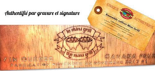 Authentifié par signature et gravure.