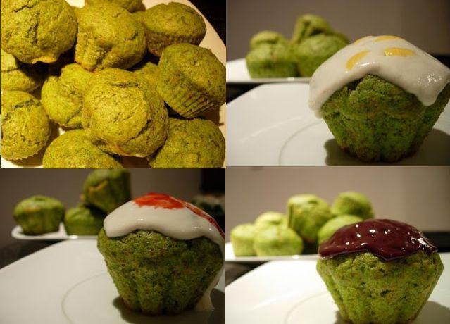 Em resposta a um desafio de arco-íris culinário, estes bolos fizeram a festa no dia verde, com três opções de cobertura