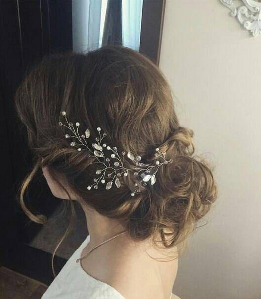 postiche parure de mariage marie cheveux vigne par tishynashop - Postiche Chignon Mariage