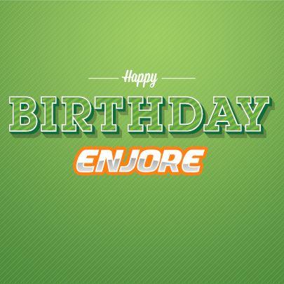 enjore.com ONE year birthday facebook cover