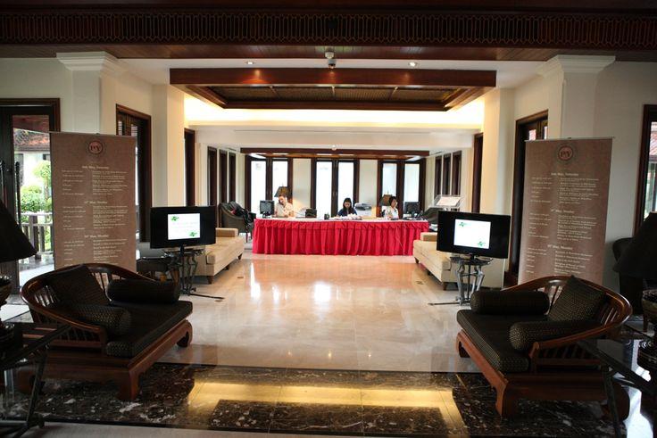 Hospitality desk  at JW Marriott , Khao Lak.