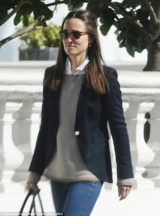 Pippa Middleton appeared to have taken style inspiration from her sister as she stepped ou...