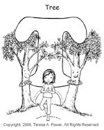 FREE yoga letter coloring pages!