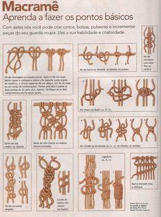 macrame knots - Google Search                                                                                                                                                                                 Mais