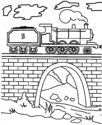 Thomas Above The Hopper Coloring Page