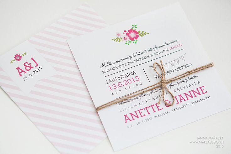 Hääkutsut » Makea Design // Graafinen suunnittelu / Wedding invitation / bröllopsinbjudan