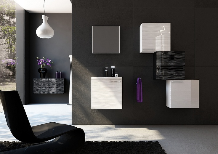 black and white bathroom furniture / łazienka #bathroom #furniture