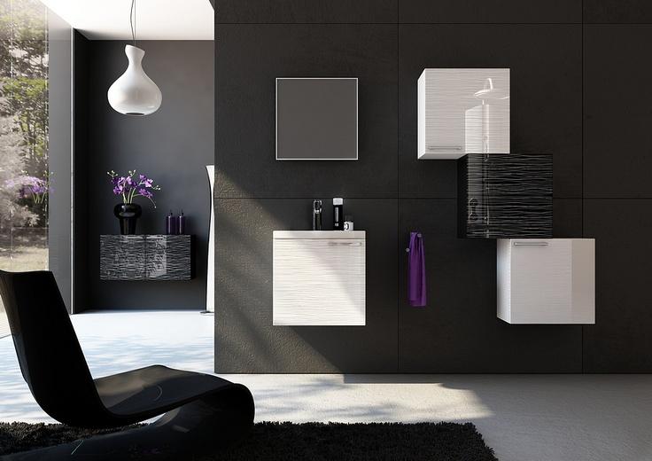 black and white bathroom furniture / łazienka #bathroom #furniture