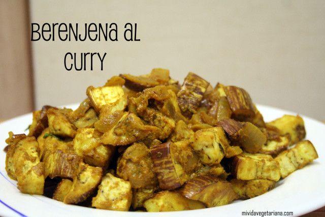 Berenjena al curry - Mi vida vegetariana