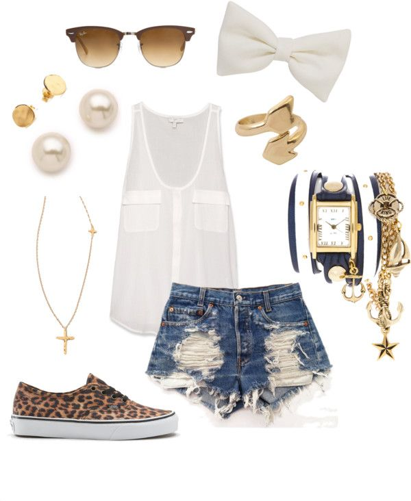 CuteFashion, Style, Summer Girl Swag Outfits, Summer Outfits, Ray Ban Outfit, Leopard Prints, Leopard Shoes With Shorts, Cheetahs Vans, Outfits With Vans Shoes