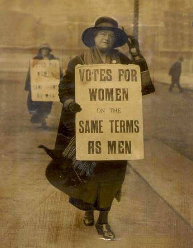 Thank you to women like this to stuck it out until the right to vote was finally granted to women!