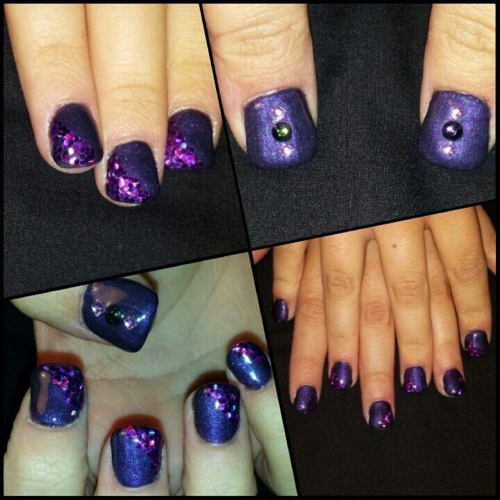 #nails #ongles #quebec #nailart #design #fashion #purple #glitter