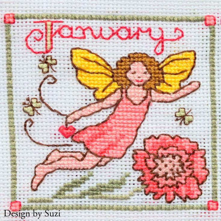 Lesley Teare - Birthday Fairies (Calendar 2015) - January