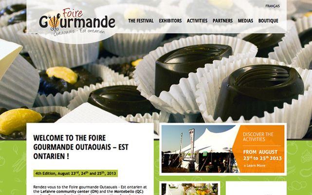 Foire gourmande Outaouais - Est ontarien - www.foiregourmande.com #webdesign #gatineau #ottawa #websitedesign