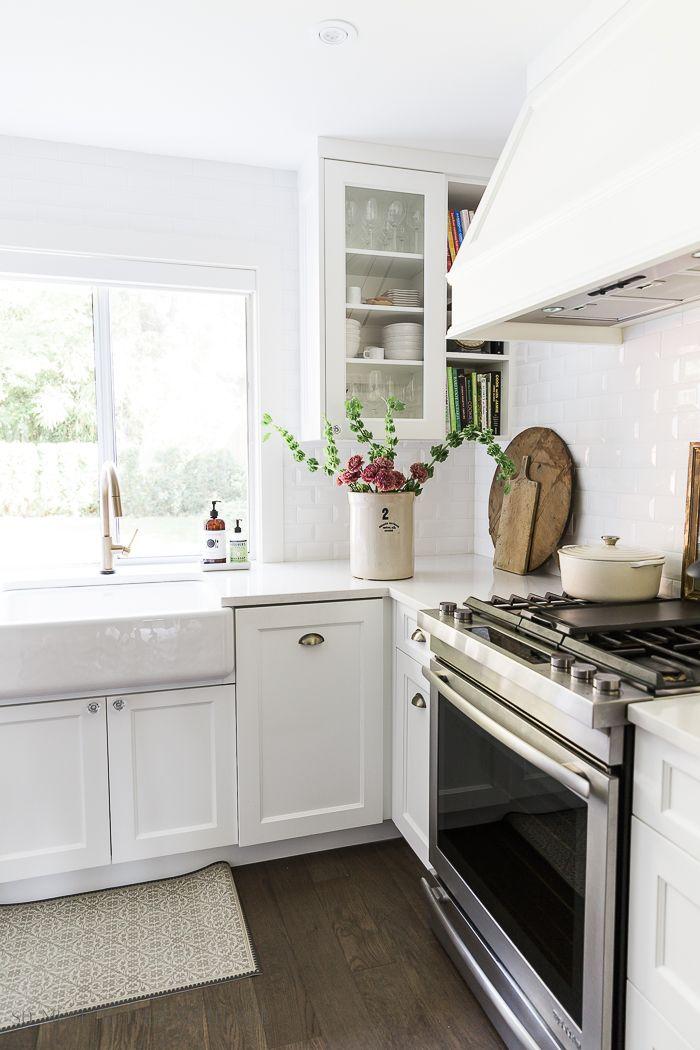 How To Clean A White Apron Front Farmhouse Sink Kitchen Decor