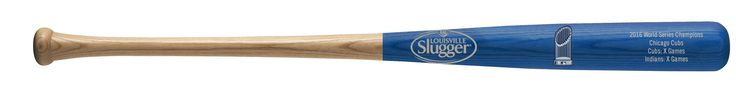 "Chicago Cubs Bat - 34"" - Half Dipped with Logo & Game Stats - 2016 World Series Champs"