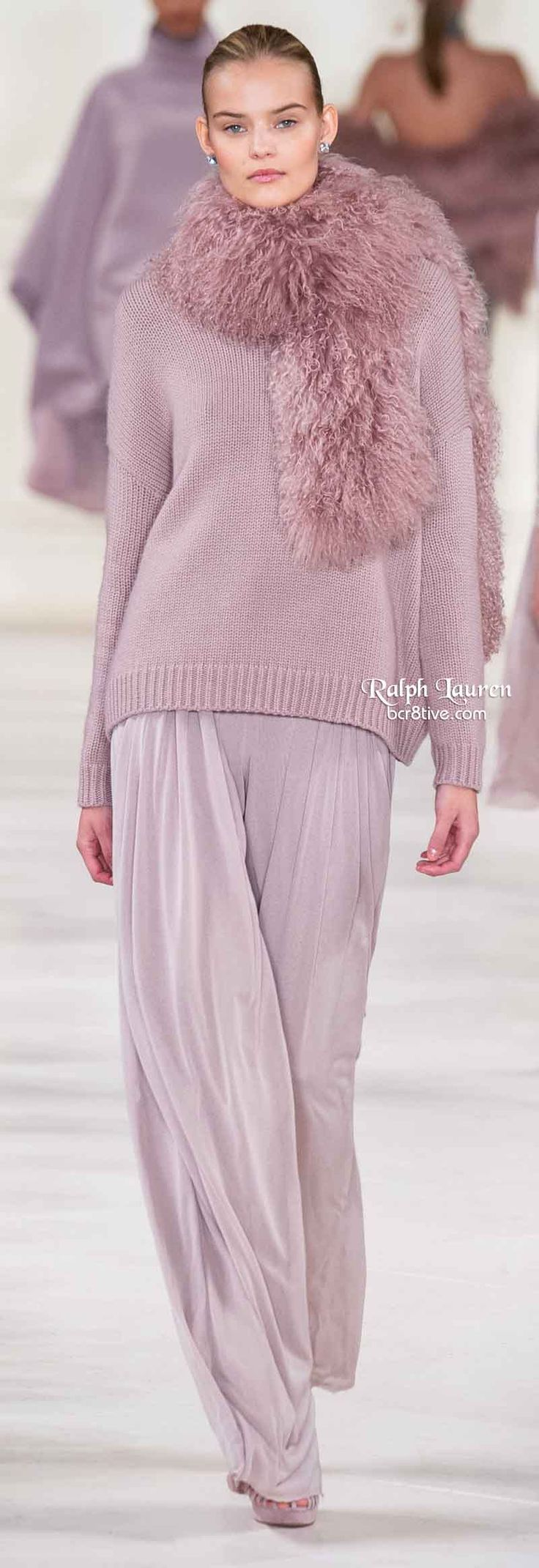 casual style taken up a few levels --Ralph Lauren Fall 2014: sumptuous colors, fabrics and styles - love!  YUMMY, KATHY