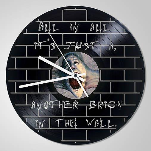 anynOOn / Pink Floyd THE WALL - vinylové hodiny z LP