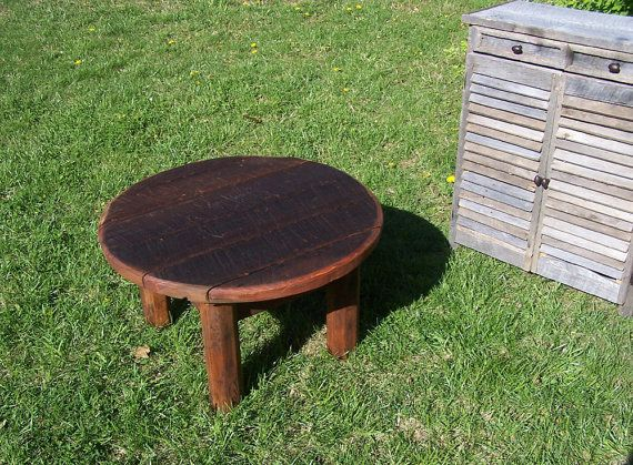 Reclaimed Barnwood Rustic Outdoor Coffee Table