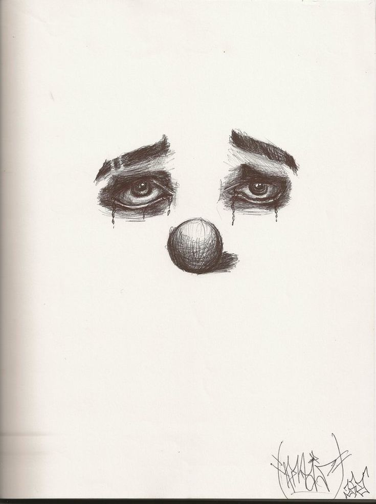 Crying Clown Drawings | Crying Clown by ~TWOF4CEDJOKA on deviantART