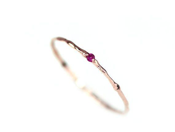 Rubinring natürlichen Rubin Branch-Ring 14 k von BlissjJewellery