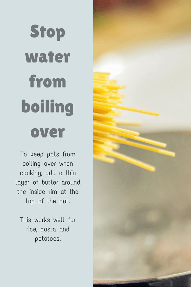 Cooking Tip: How to stop water from boiling over the pot