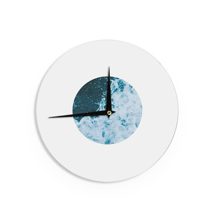 "Chelsea Victoria ""The Sea"" Nautical Blue Wall Clock from KESS InHouse"