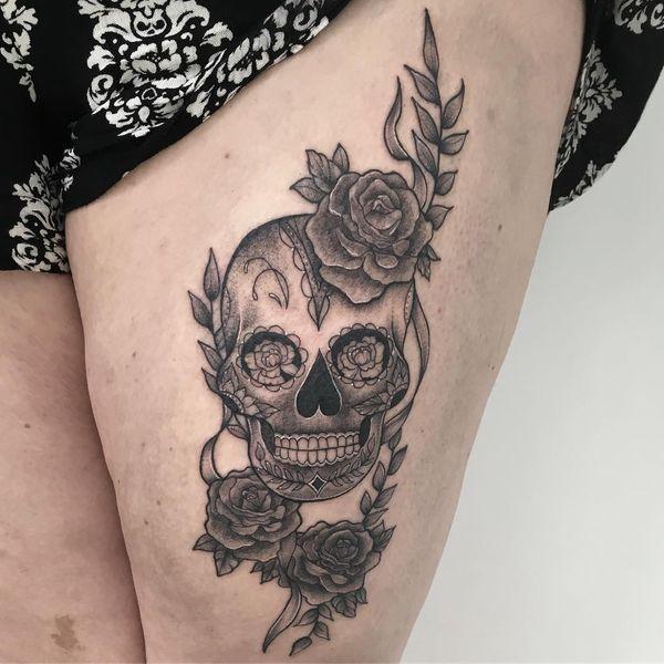 Dessins De Tatouage De Crane De Sucre Sugar Skull Tattoos Tattoos Skull Tattoo Design