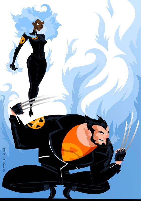 Wolverine and Storm