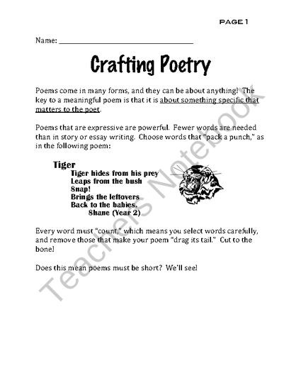 A Comprehensive Poetry Figurative Langauge Practice Packet From Special Education Meets General Education On Teachersno Teaching Poetry Meaningful Poems Poetry
