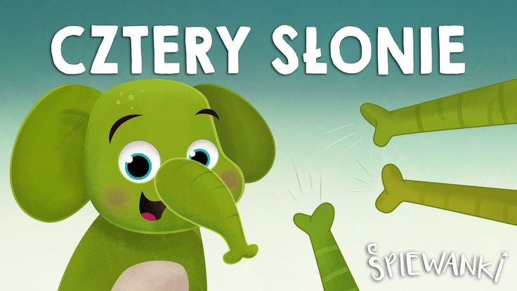 Cztery słonie – piosenka z teledyskiem dla dzieci. Śpiewanki.tv