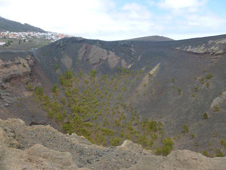 crater volcan de Teneguía en la isla de La Palma, Islas Canarias, España¡¡