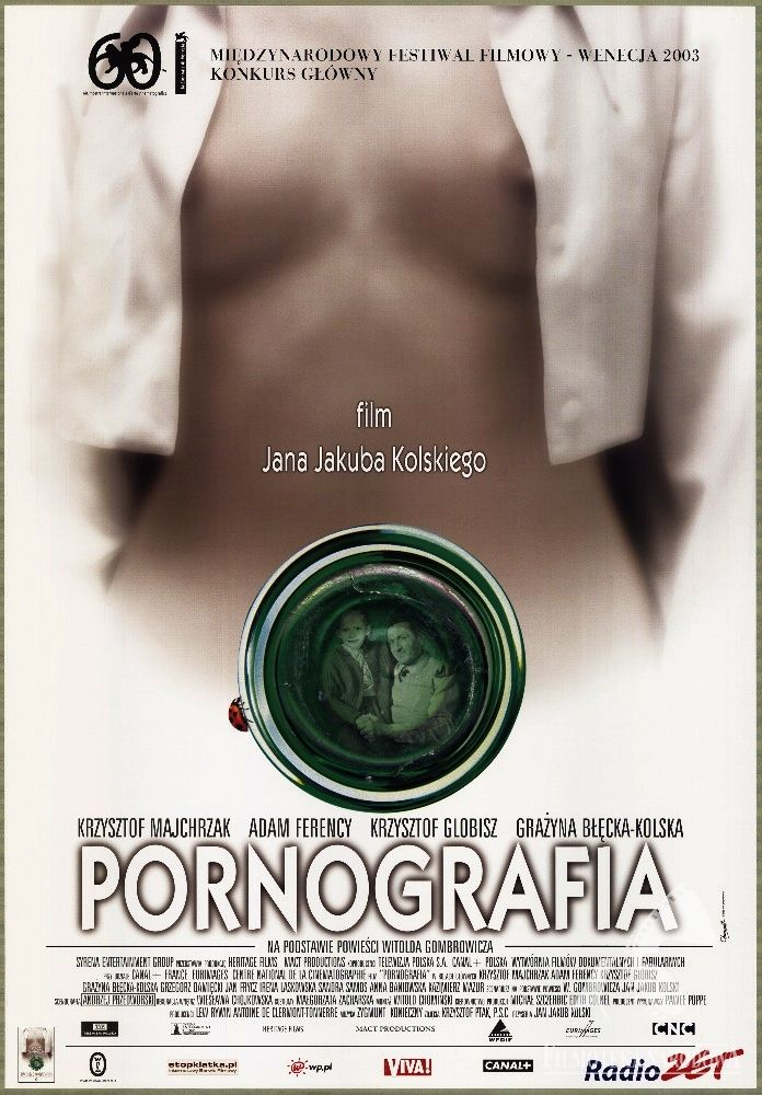 Polish posters: PORNOGRAFIA, dir. Jan Jakub Kolski (2003).