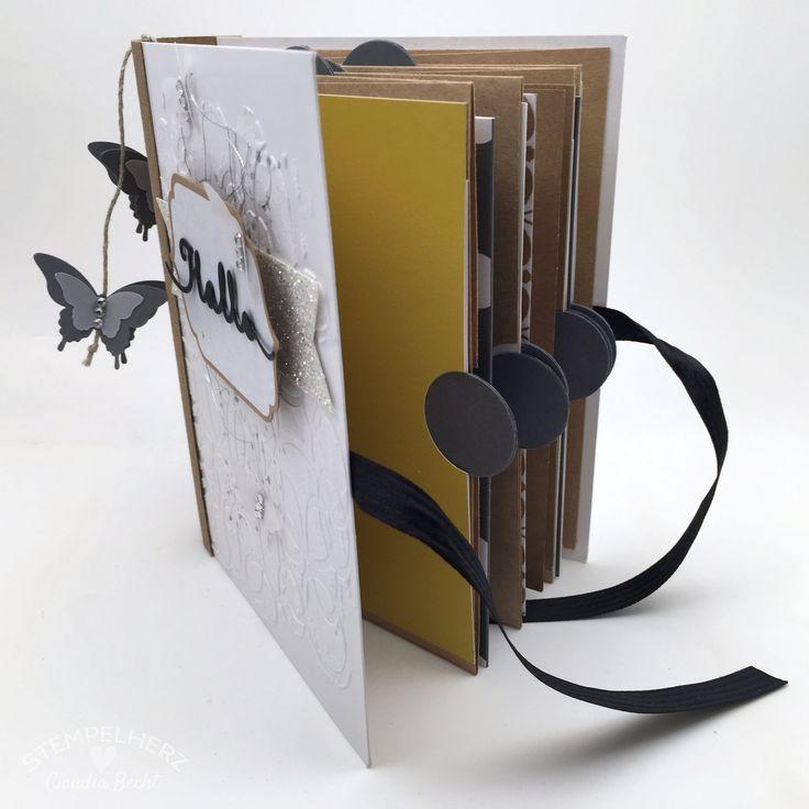 Stampin Up-Stempelherz-Minialbum-Kartenset - Umschlag- und Karten-Minialbum 07b