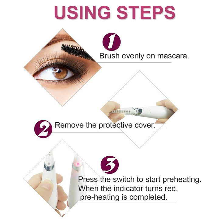 USB Electric Heated Eyelash Curler With Comb