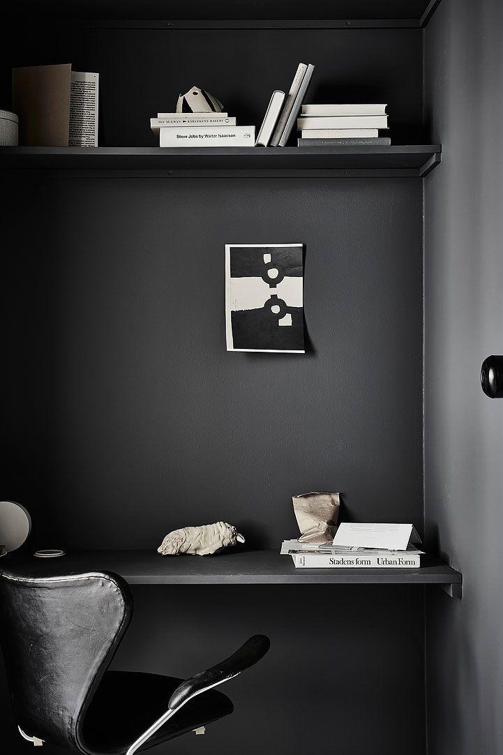 dark monochrome workspace