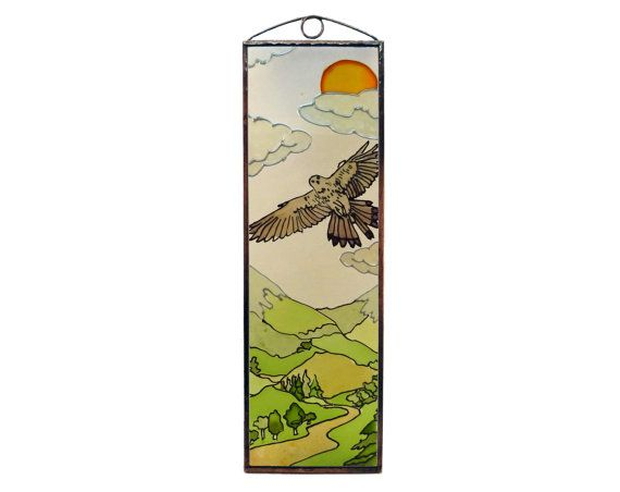 Eagle 2 - Hunting - Painted Glass