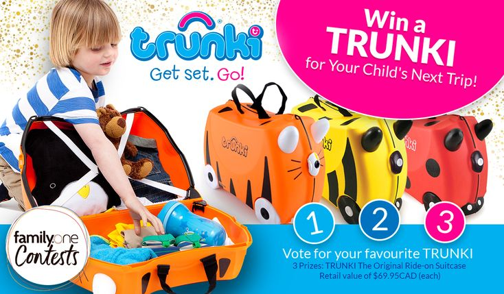 @familyonecanada is giving away 3 Trunki in time for the holidays
