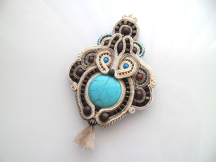 Turquoise pendant - Handmade Wonderland