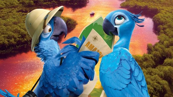 Wallpaper rio 2, blu, jewel, 2014