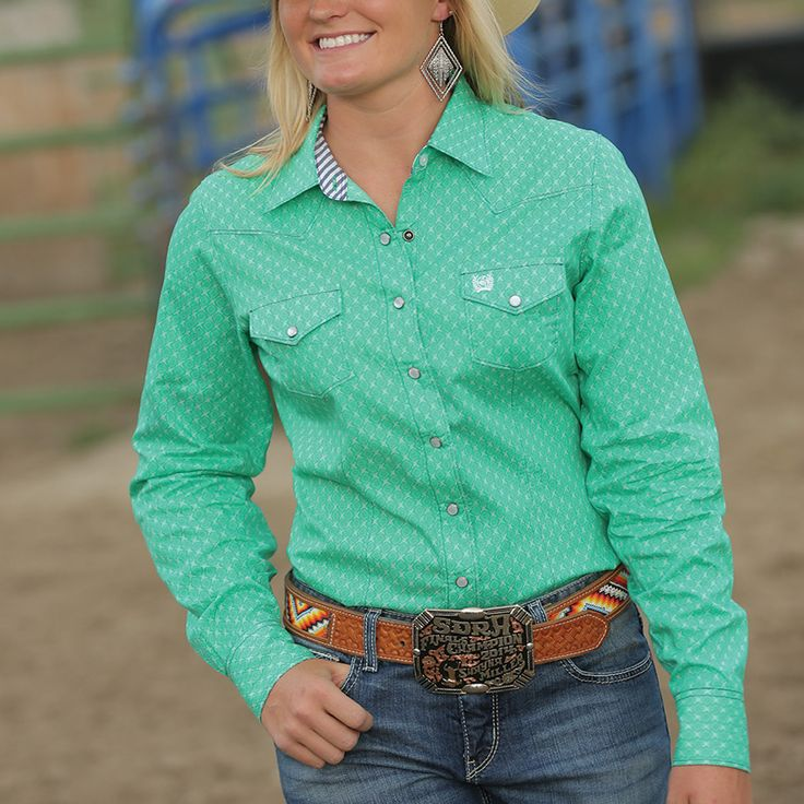 Cinch Women's Long Sleeve Western Snap Shirt