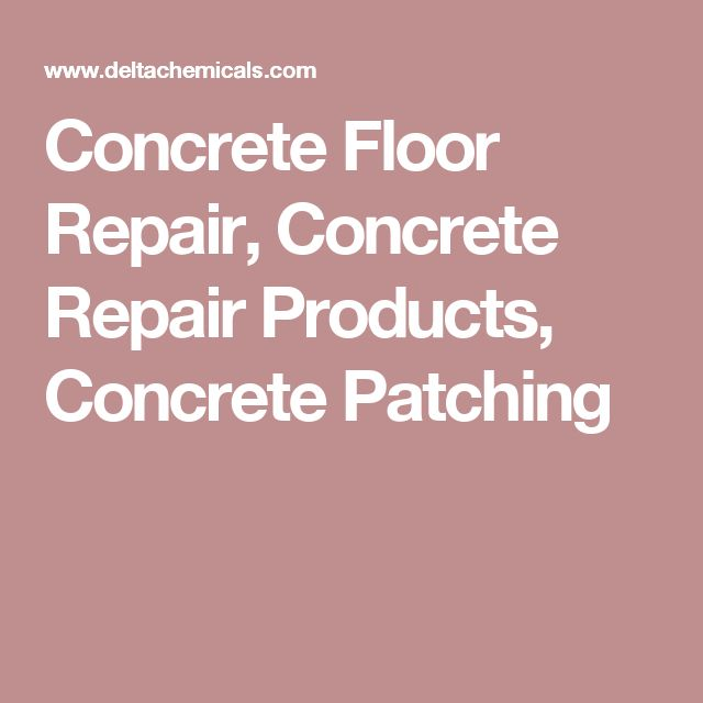 Concrete Floor Repair, Concrete Repair Products, Concrete Patching