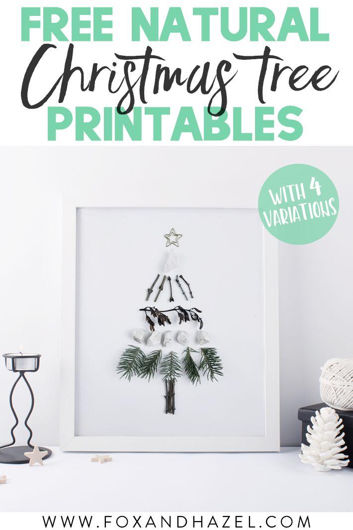 4 Free Natural Christmas Tree Art Prints Natural Christmas Tree Natural Christmas Christmas Tree Art