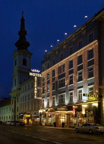 Ansicht Taborstraße mit Hotel Stefanie