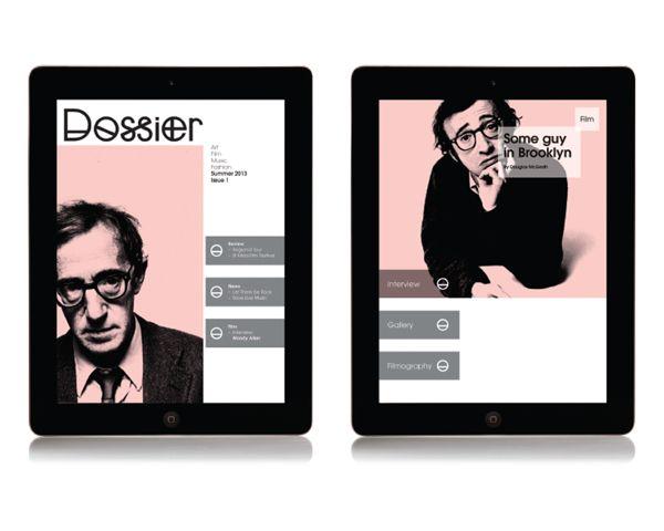 Ipad Magazine by Tom Watchorn, via Behance