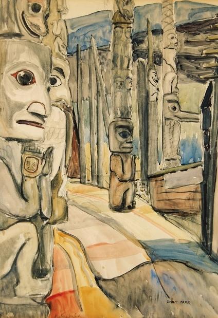 Kitseukla by Emily Carr.    Courtesy, Levis Fine Art Auctions