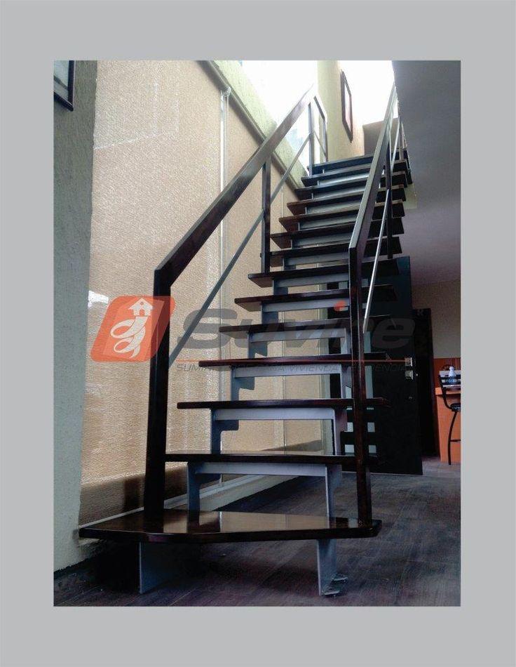 M s de 1000 ideas sobre barandales de herreria en for Escaleras metalicas con madera
