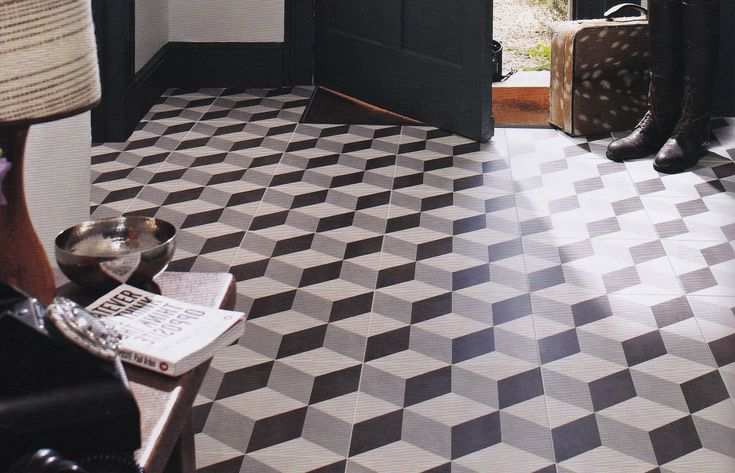 3d cube tile google search entry hall pinterest for Floor illusions