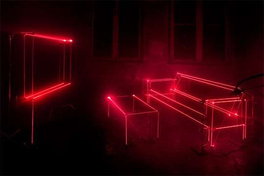 Laser-Lined Lounges - The United Visual Artists' House Makes for a Light-Intense Showroom