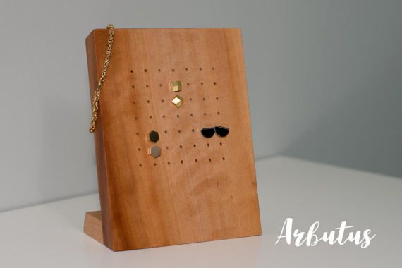 Arbutus / Wooden Earring Display Stand / Stud by EverestHomeDesign
